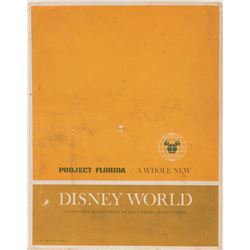 Walt Disney World Project folder, photographs and memos.