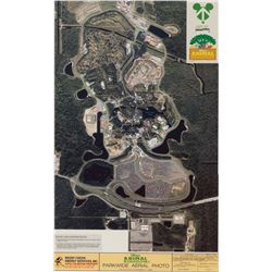 Animal Kingdom park-wide aerial photograph that hung in the executive offices of WDW.