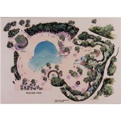 Pool Photo and pool concept design print that hung the Disney's Vero Beach Resort.
