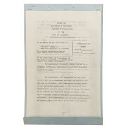 Walt Disney twice-signed contract.