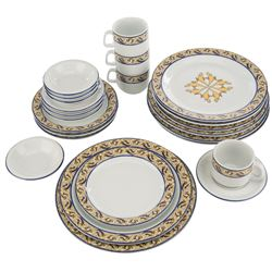 Disneyland Aladdin Oasis Restaurant (4) place settings dinnerware set.