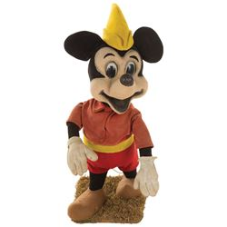 """""""Mickey Mouse"""" from Mickey and the Beanstalk animatronic figure from Disneyland."""
