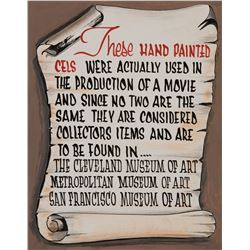 """Disneyland Art Corner Gallery painted sign by Don """"Ducky"""" Williams."""