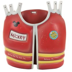 """""""Mickey"""" life vest display prop for Walt Disney world AirVest 2000 Parasailing Attraction."""