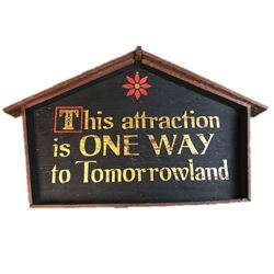 Skyway To Tomorrowland Attraction Sign From Walt Disney World.