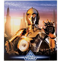 "Star Tours Attraction ""C-3PO"" poster for Walt Disney World."
