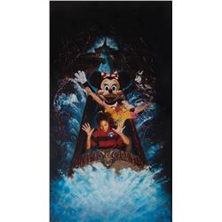 "Disneyland Splash Mountain original illustration art featuring ""Minnie Mouse"" ."