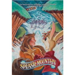 "Disneyland Splash Mountain original illustration art featuring ""Br'er Rabbit""."