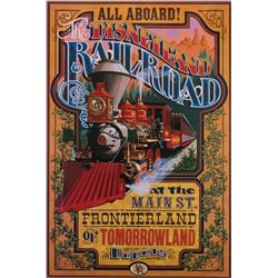 Disneyland Railroad Attraction poster.