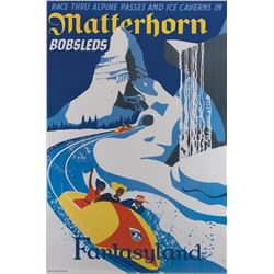 Disneyland Matterhorn Attraction poster.