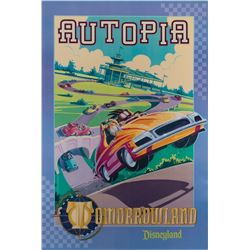 Disneyland Autopia Attraction poster.
