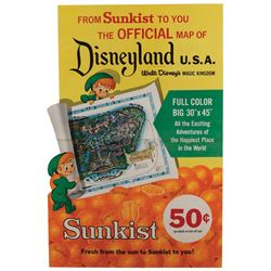 Sunkist Disneyland in-store promotional poster.
