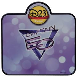 "Disneyland D23 1st Anniversary Captain EO sign and ""Disney Voluntears"" sign."