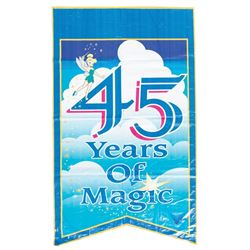 Large Disneyland 45th Anniversary Banner.