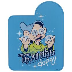 """Disneyland California Adventure sign and """"Up all Night Dopey"""" sign."""