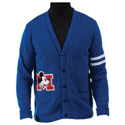 Disneyland Toontown lettered cardigan sweater exclusively for Imagineers.