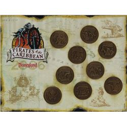 Pirates of the Caribbean Limited Edition 9 coin set.