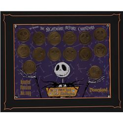 "The Haunted Mansion Holiday ""13 Faces of Jack"" 14 coin set."