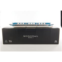 Disneyland artist proof blue Monorail Mark I by Master Replica and Bob Gurr.
