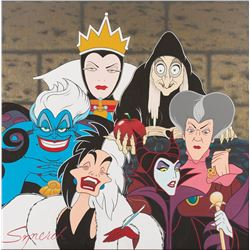 "Disney ""Villainess"" painting by Disney artist Richard Sznerch."