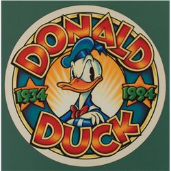 """Donald Duck"" 60th Anniversary logo illustration art."