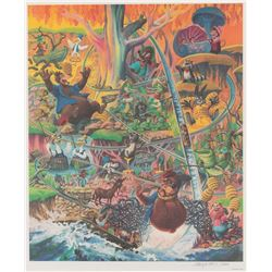 "Splash Mountain ""Laughing Place"" limited edition lithograph by Charles Boyer."