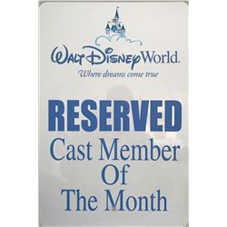 "Walt Disney World ""Cast Member of the Month"" sign."