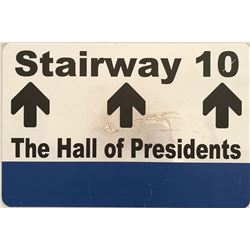"Walt Disney World ""Hall of Presidents"" sign."
