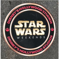 Walt Disney World Star Wars Weekend sign.