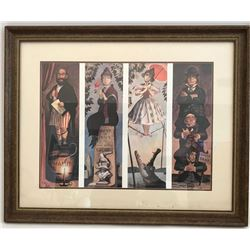 "The Haunted Mansion ""Stretching Room"" Portraits limited edition print signed by artist Marc Davis."