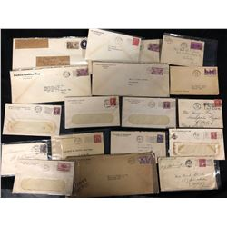 1930'S CANADIAN LETTER'S, STAMPS & FIRST DAY COVERS LOT