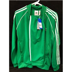 BRAND NEW W/ TAGS GREEN ADIDAS TRACK SUIT (JACKET-LARGE, PANTS-MEDIUM)