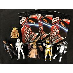 STAR WARS ACTION FIGURES & TRADING CARDS GAME LOT
