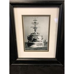 "WORLD WAR II NAVY SHIP FRAMED PRINT (12"" X 12"")"