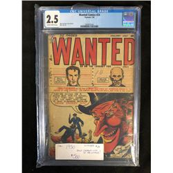 1950 #24 WANTED COMIC BOOK (ONLY GRADED COPY IN THE WORLD) 2.5 CGC UNIVERSAL GRADE