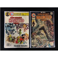 BARON WEIRWULF'S HAUNTED LIBRARY COMIC BOOK LOT (#37, 27) CHARLTON COMICS