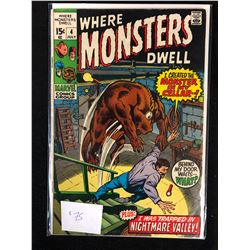 WHERE MONSTERS DWELL #4 (MARVEL COMICS)