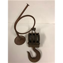 Vintage Differential Block Pulley