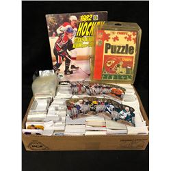 SPORTS FAN SOUVENIR LOT (PUZZLE, CARDS, STICKER BOOK)