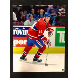 "TREVOR LINDEN AUTOGRAPHED 8"" X 10"" COLOR PHOTO"