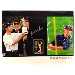 MIKE WEIR AUTOGRAPHED GOLF PHOTO (2002 ABALENE GOLF)