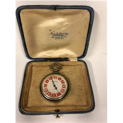 THERMIDOR ANTICHOC POCKET WATCH -BEAUTIFUL ENAMEL CASE- FANCY DIAL