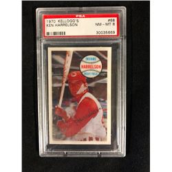1970 KELLOGG'S #68 KEN HARRELSON (NM-MT 8) PSA