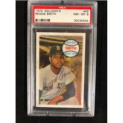1970 KELLOGG'S #46 REGGIE SMITH (NM-MT 8) PSA