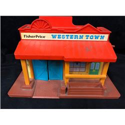 1982 Vintage Fisher Price Little People Western Town