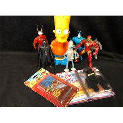 COLLECTIBLE TOY LOT (STAR WARS, SIMPSONS & MORE)