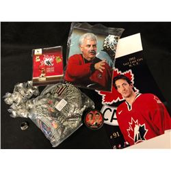 HOCKEY FAN SOUVENIR LOT (VANCOUVER GIANTS REPLICA CUP RINGS, PHOTOS & MORE)