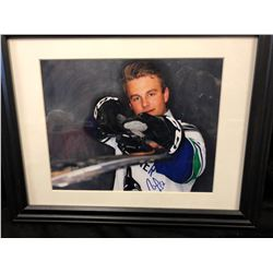 "AUTOGRAPHED VANCOUVER CANUCK 14"" X 12"" FRAMED PHOTO"