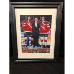 "AUTOGRAPHED 11"" X 14"" FRAMED PHOTO  (TEAM CANADA JUNIORS)"