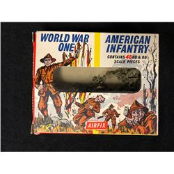 VINTAGE AIRFIX H0 & 00 SCALE PIECE IN BOX - WW1 AMERICAN INFANTRY (IN BOX)